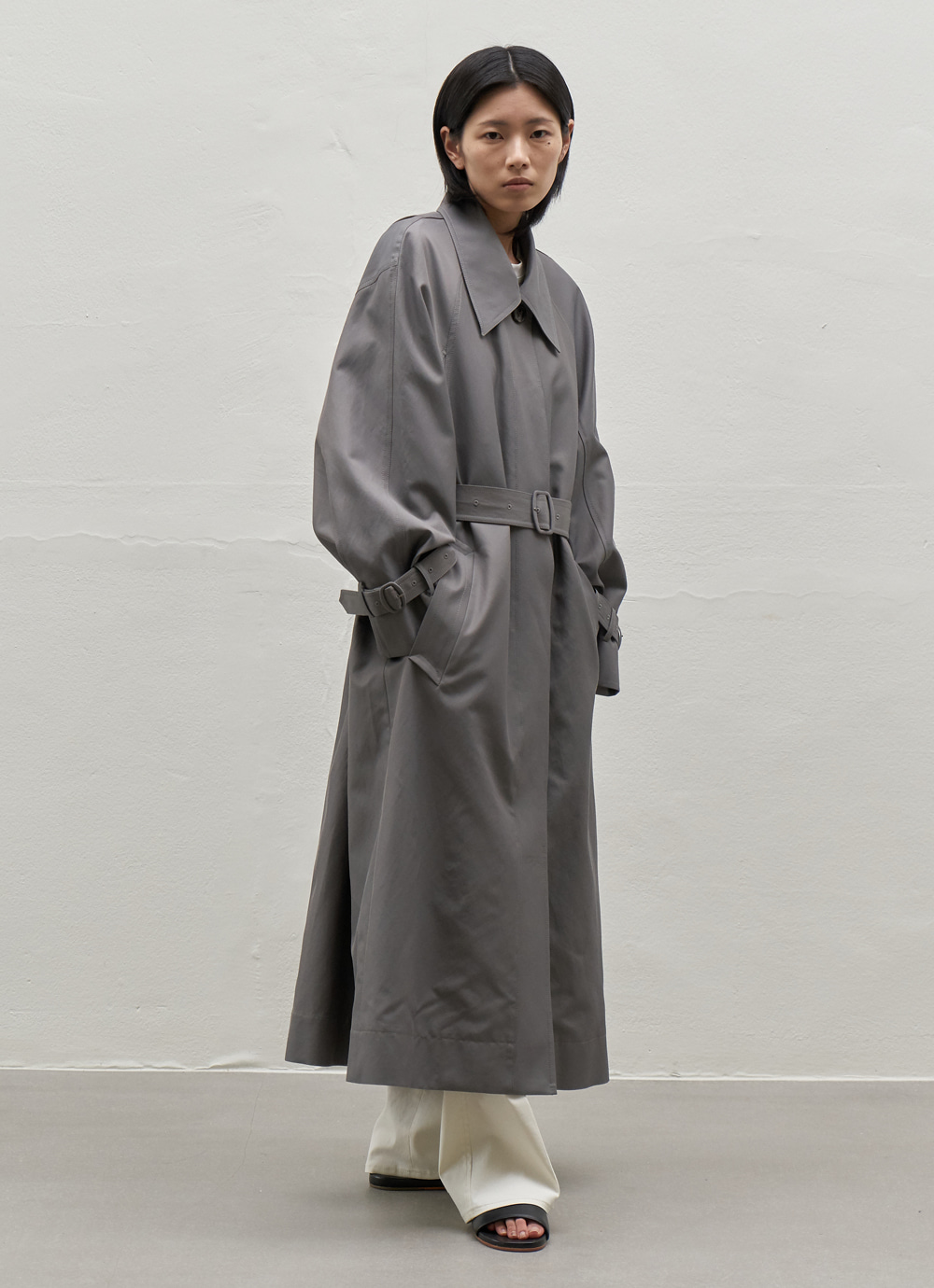 Twill Trench Coat [Charcoal]