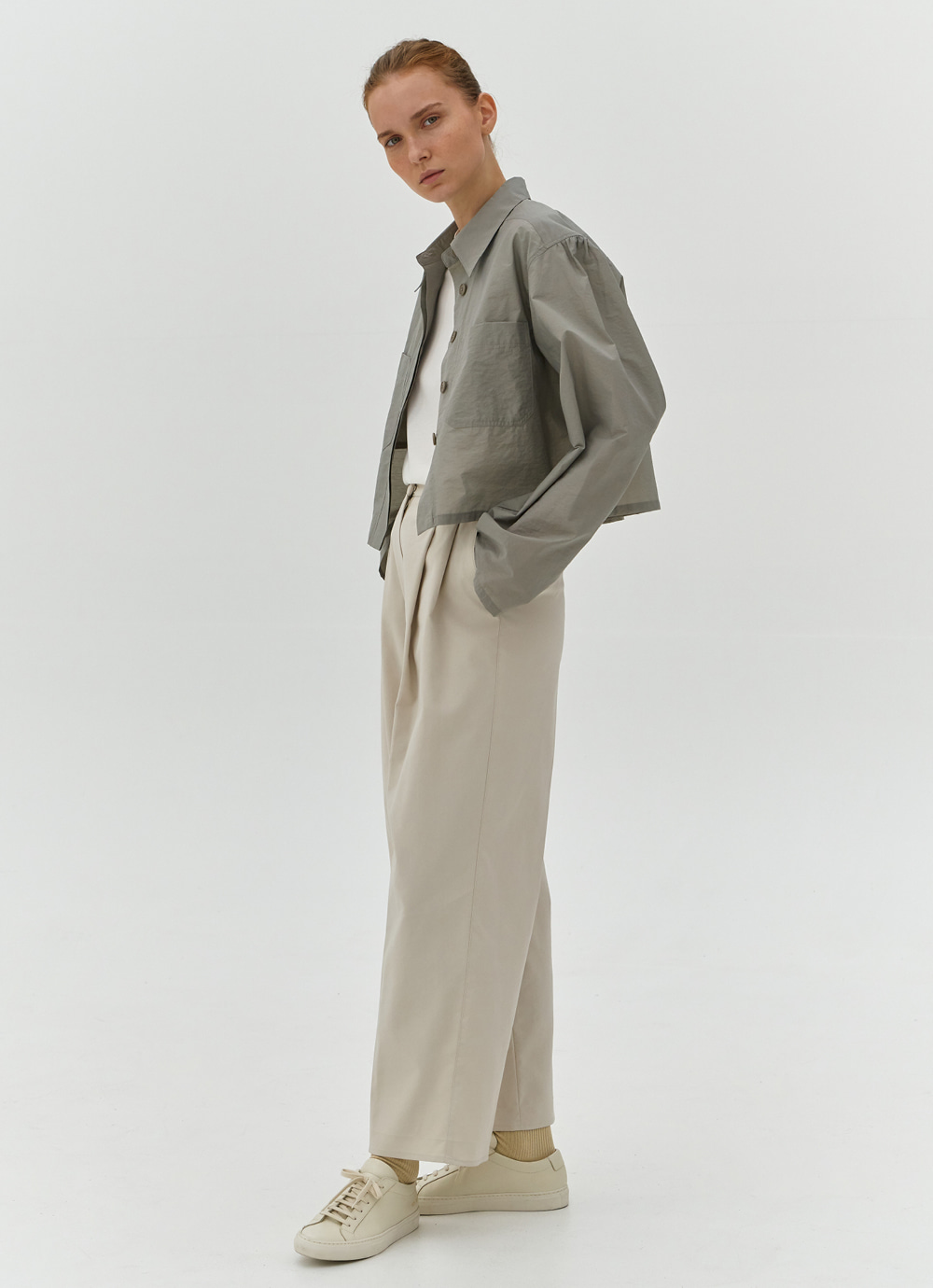 Two Tuck Pants [Ivory]