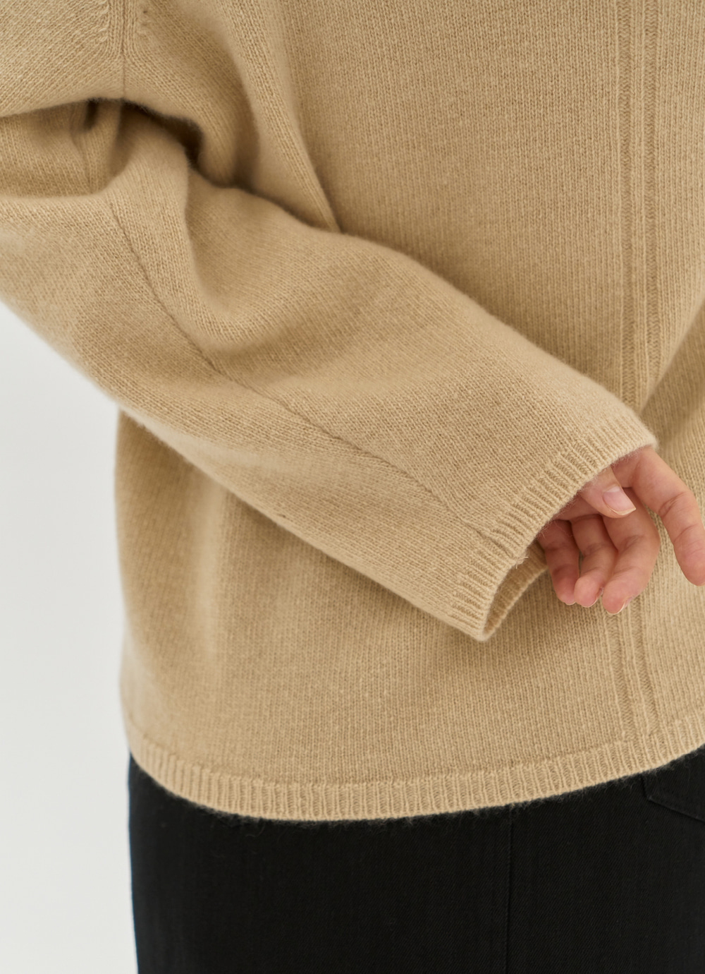 Tasmania Wool  Turtle Neck [Beige]