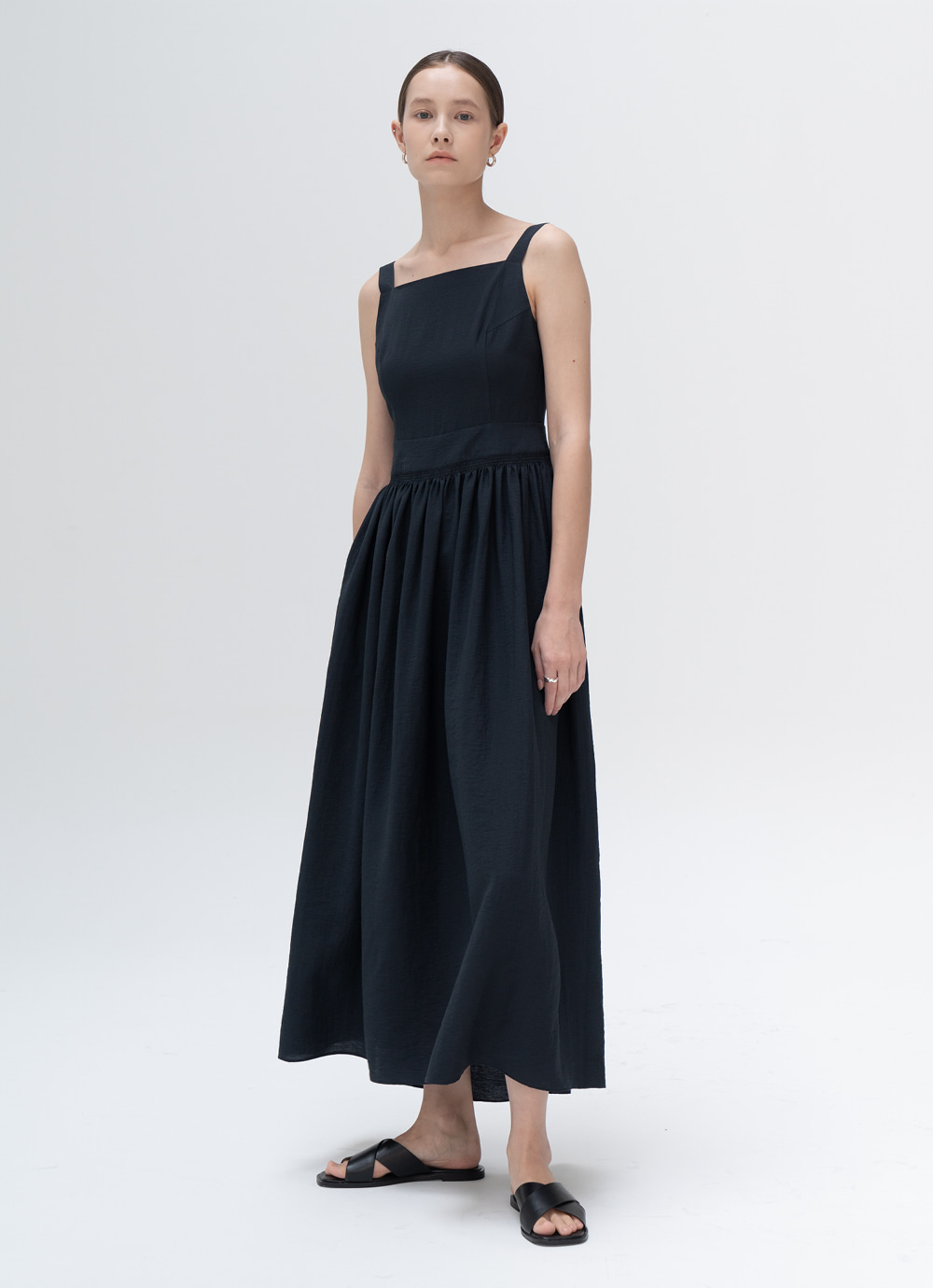 Square Dress [Navy]