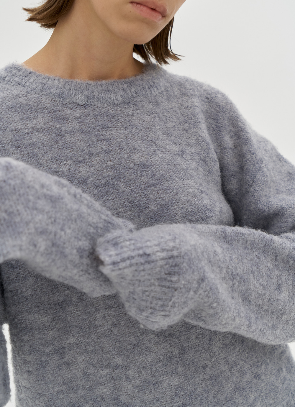 Alpaca Boucle Sweater [Blue]
